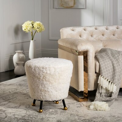 Northwick Retro Ottoman Color: Beige