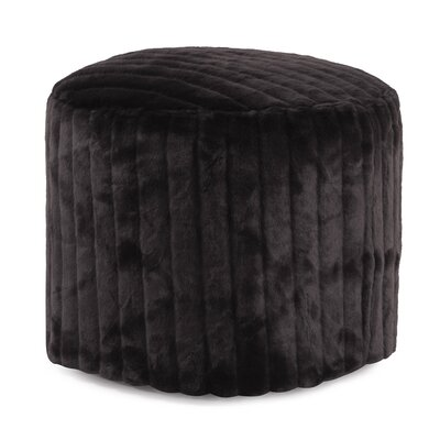 Bicester Tall Pouf Mink Ottoman Color: Black