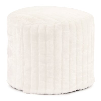 Bicester Tall Pouf Mink Ottoman Color: Snow