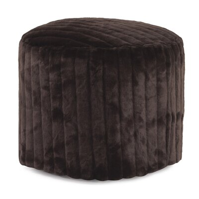 Bicester Tall Pouf Mink Ottoman Color: Brown
