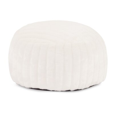 Billericay Foot Pouf Mink Ottoman Color: Snow