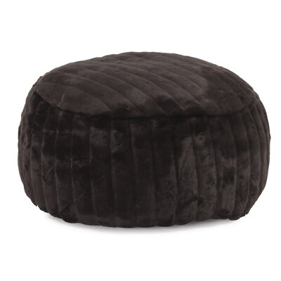 Billericay Foot Pouf Mink Ottoman Color: Black