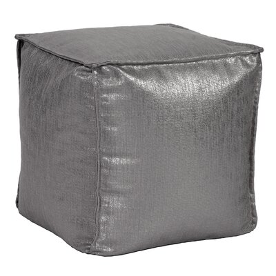Birness Square Pouf Ottoman Color: Zinc