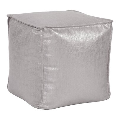 Birness Square Pouf Ottoman Color: Pewter