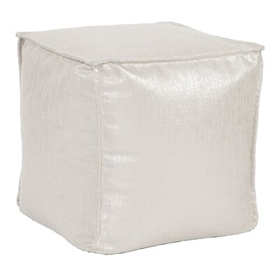 Birness Square Pouf Ottoman Color: Sand