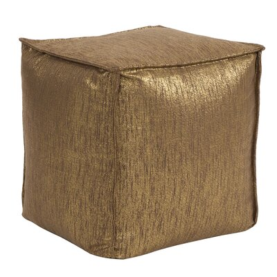Birness Square Pouf Ottoman Color: Chocolate