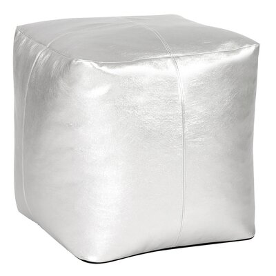 Bismuth Square Pouf Shimmer Ottoman Color: Mercury