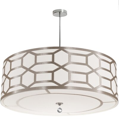 Francene 8-Light Drum Pendant Shade Color: Winter Gold