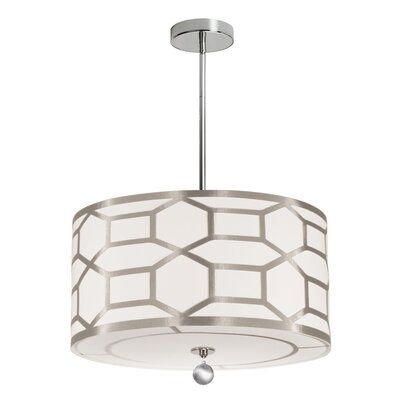 Francene 4-Light 400W Drum Pendant Shade Color: Winter Gold, Size: 7 H x 19 W x 19 D