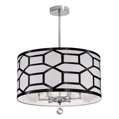 Francene 6-Light Semi Flush Mount Finish: Black/White