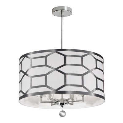 Middleham 6-Light Semi Flush Mount Finish: Silver