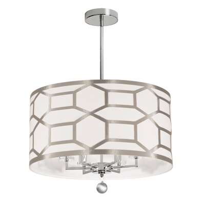 Francene 6-Light Semi Flush Mount Finish: Winter Gold