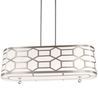 Francene 4-Light Drum Pendant Finish: Winter Gold