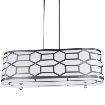 Francene 4-Light Drum Pendant Finish: Silver/White