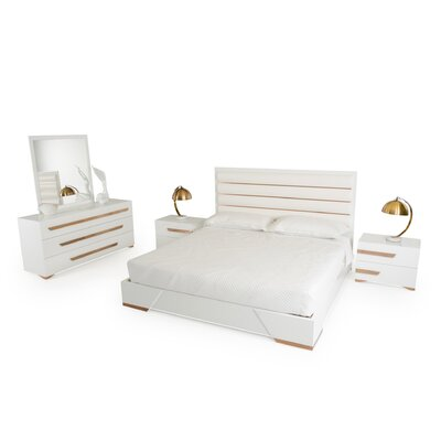 Eloisa Platform 5 Piece Bedroom Set Size: Queen