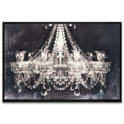'Dramatic Entrance Night Chandelier' Framed Graphic Art Print on Canvas