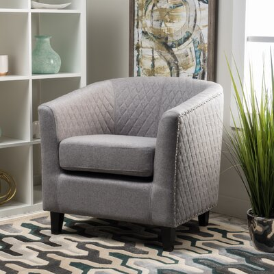 Jallet Fabric Barrel Chair Upholstery: Grey