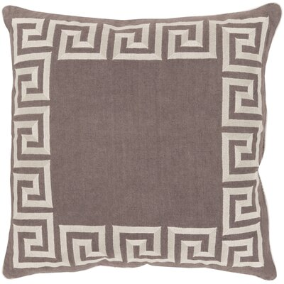 Jans Linen Throw Pillow Size: 20 H x 20 W x 4 D, Color: Charcoal, Filler: Down