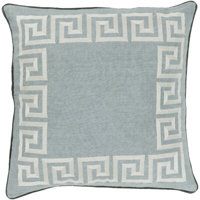 Jans Linen Throw Pillow Size: 22 H x 22 W x 4 D, Color: Moss, Filler: Down