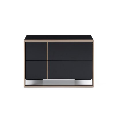 Southsea 2 Drawer Nightstand Orientation: Right Facing