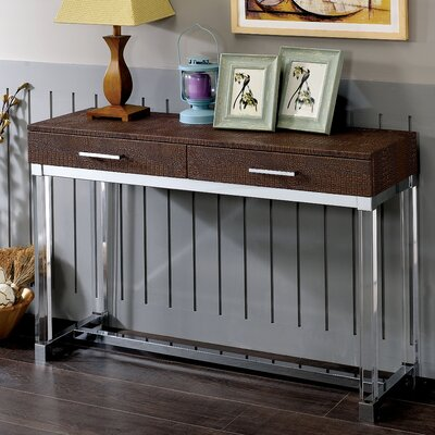 Maxwell Console Table Finish: Brown
