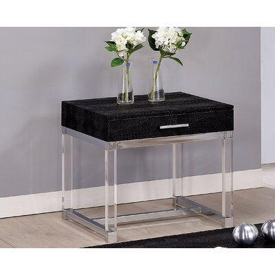 Maxwell End Table Color: Black