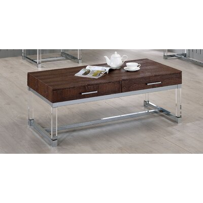 Maxwell Coffee Table Color: Brown