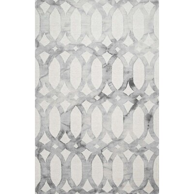 Tadashi Navy Blue / Light Gray Area Rug Rug Size: 76 x 96