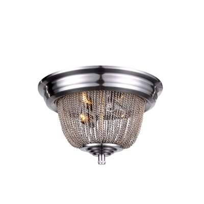 Morgan 2-Light Flush Mount Finish: Pewter
