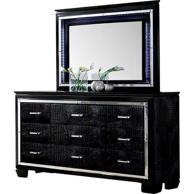 Crispin 9 Drawer Dresser with Mirror