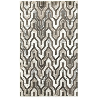Fiona Beige/Brown Area Rug Size: Rectangle 51 x 75