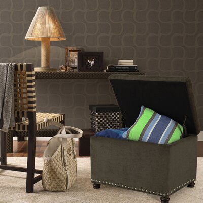 Grove Hill Accents Rectangular Tufted Storage Ottoman Upholstery Color: Dark Gray