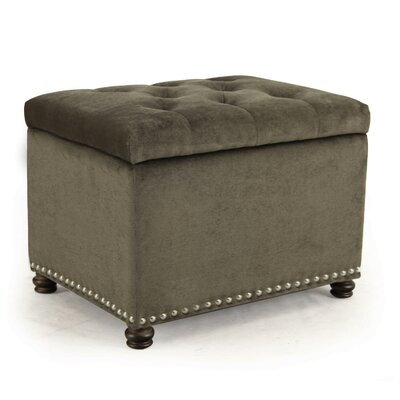 Grove Hill Accents Rectangular Tufted Storage Ottoman Upholstery Color: Light Gray