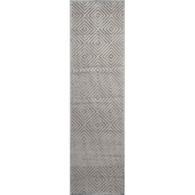 Gilberta�Gray Area Rug Rug Size: Runner 22 x 76