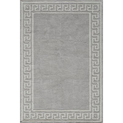 Finley Hand-Tufted�Gray Area Rug Rug Size: Rectangle 5 x 76