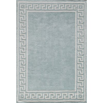 Finley Hand-Tufted Mint Area Rug Rug Size: 36 x 56