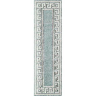 Finley Hand-Tufted Mint Area Rug Rug Size: Runner 23 x 8