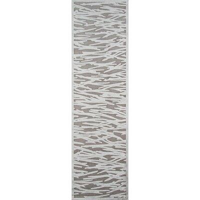 Hadleigh Gray Area Rug Rug Size: Runner 22 x 76