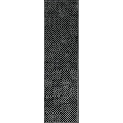 Curtice�Charcoal Area Rug Rug Size: Runner 22 x 76