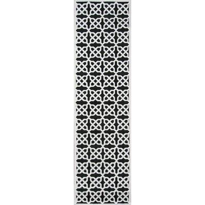 Hadleigh�Black Area Rug Rug Size: Runner 22 x 76