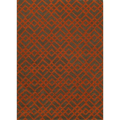 Grant Hand-Hooked Pumpkin Area Rug Rug Size: Rectangle 2' x 3'