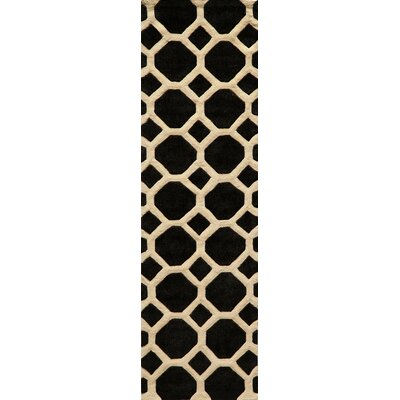 Chance Hand-Tufted Black Area Rug Rug Size: Runner 23 x 8