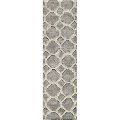 Finley Hand-Tufted Gray Area Rug Rug Size: Runner 23 x 8