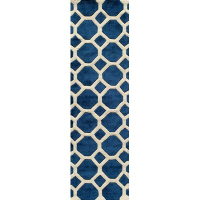 Chance Hand-Tufted Navy Area Rug Rug Size: Rectangle 36 x 56