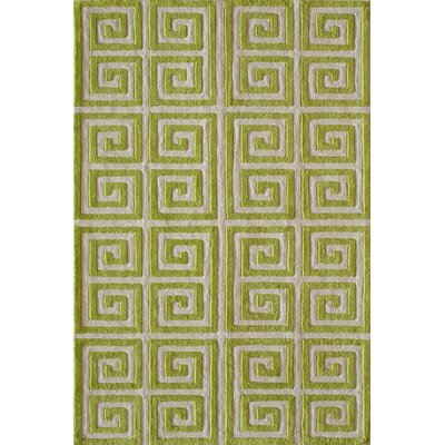 Finley Hand-Tufted Apple Green Area Rug Rug Size: Rectangle 5 x 76