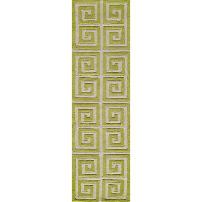 Finley Hand-Tufted Apple Green Area Rug Rug Size: Runner 23 x 8