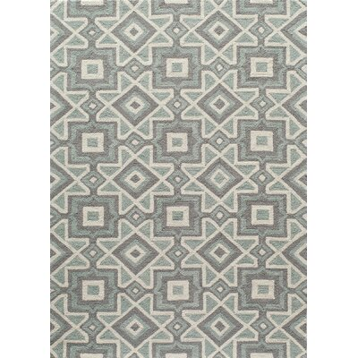 Anwen Hand-Hooked Gray Area Rug Rug Size: Rectangle 5 x 7