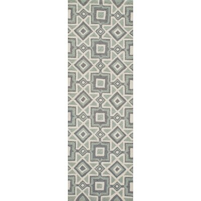 Anwen Hand-Hooked Gray Area Rug Rug Size: Runner 23 x 76