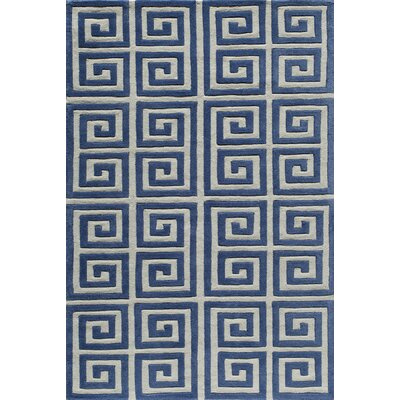 Finley Hand-Tufted Denim Area Rug Rug Size: 5 x 76