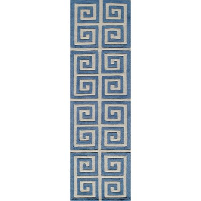 Finley Hand-Tufted Denim Area Rug Rug Size: Runner 23 x 8